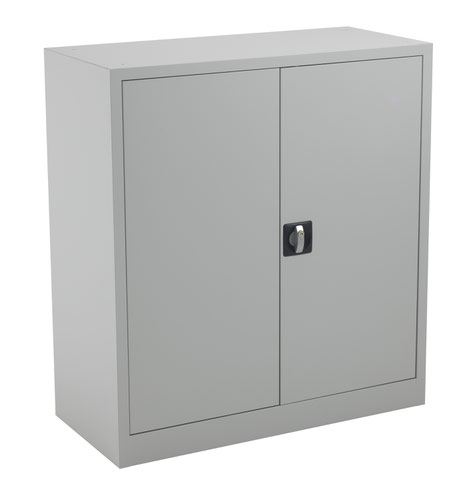 TC Steel Double Door Cupboard 1000 Grey