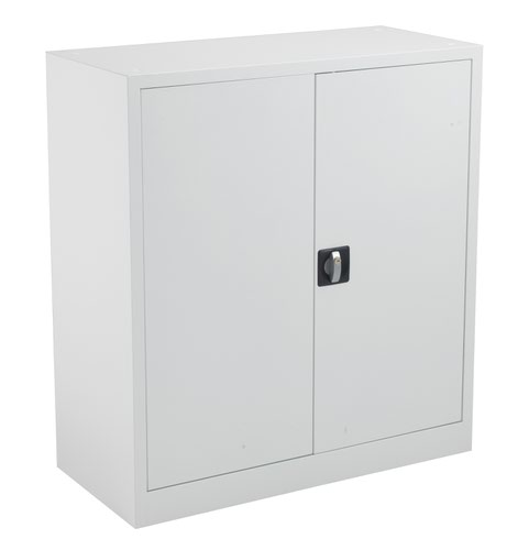 TC Steel Double Door Cupboard 1000 White