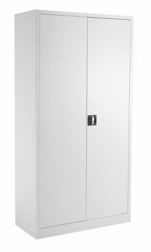 TC Steel Double Door Cupboard 1790 White