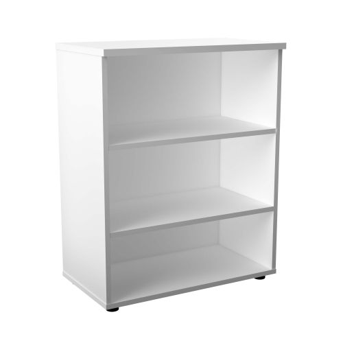 1000 Wooden Bookcase (450mm Deep) White