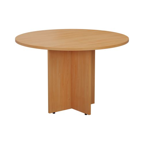 1100mm Round Meeting Table - Beech