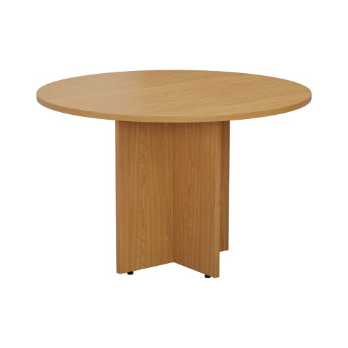Jemini Round Meeting Table 1200mm Nova Oak KF79884