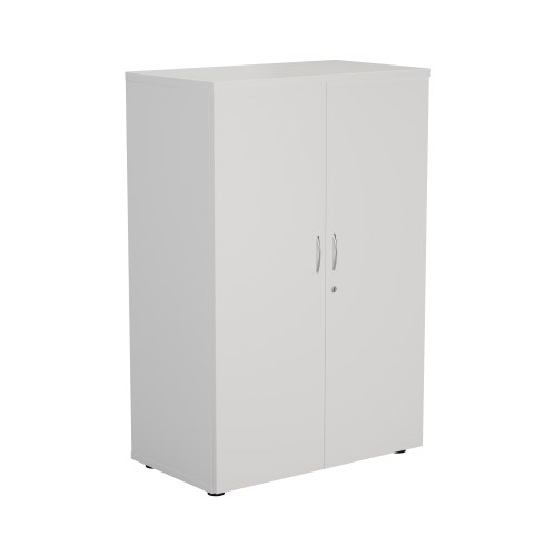 FF First Wooden Storage Cupboard 1200mm White WDS1245CPWH