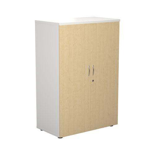 1200 Wooden Cupboard (450mm Deep) White Carcass Maple Doors