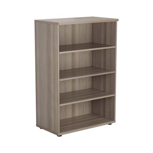 1200 Wooden Bookcase (450mm Deep) Grey Oak