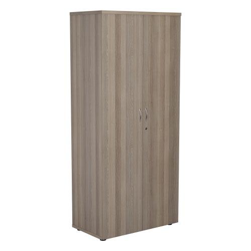 1800 Wooden Cupboard (450mm Deep) Grey Oak