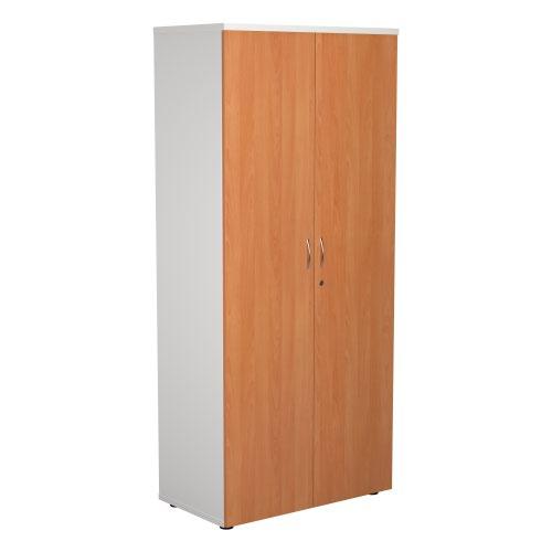1800 Wooden Cupboard (450mm Deep) White Carcass Beech Doors