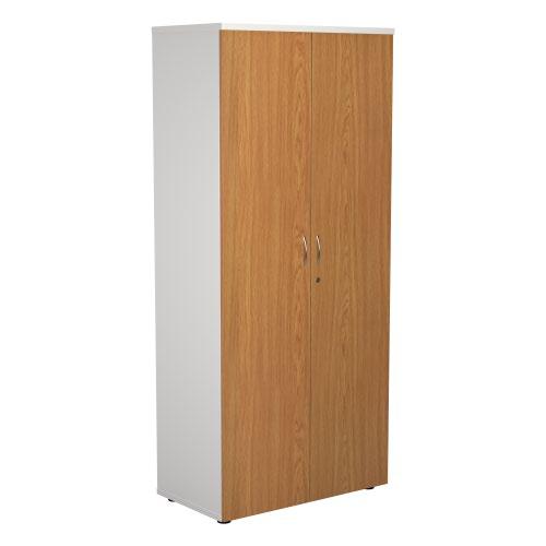 1800 Wooden Cupboard (450mm Deep) White Carcass Nova Oak Doors