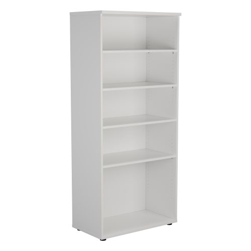 1800 Wooden Bookcase (450mm Deep) White