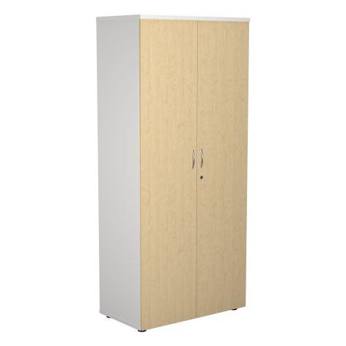 1800 Wooden Cupboard (450mm Deep) White Carcass Maple Doors