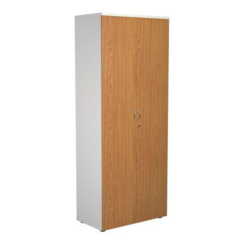 2000 Wooden Cupboard (450mm Deep) White Carcass Nova Oak Doors