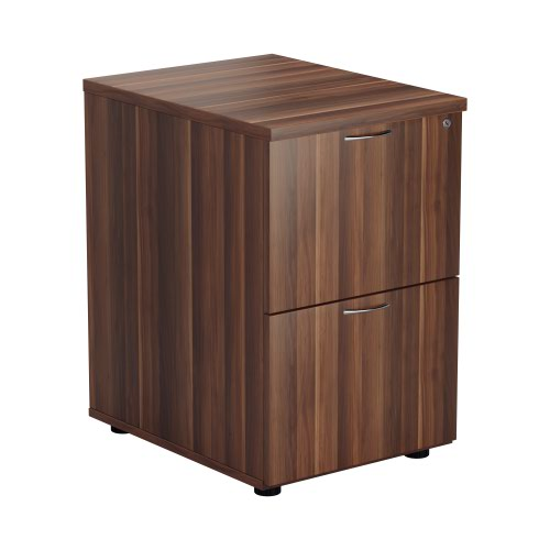 2 Drawer Filing Cabinet - Dark Walnut