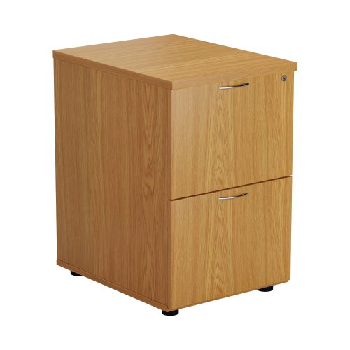 First Two Drawer Filing Cabinet Nova Oak TES2FCNO