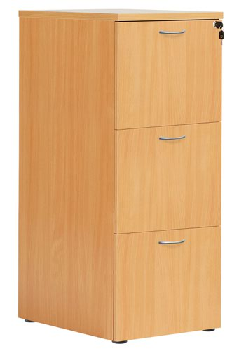 3 Drawer Filing Cabinet - Beech Version 2