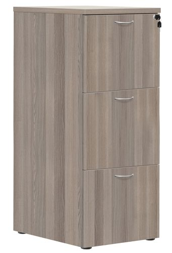 3 Drawer Filing Cabinet - Grey Oak