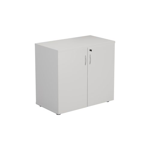 FF First Wooden Storage Cupboard 730mm White WDS745CPWH