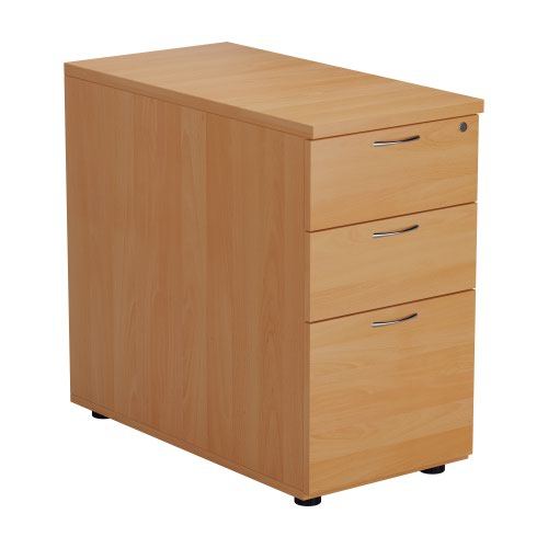 Jemini Beech 3 Drawer Desk High Pedestal 800 V2 KF74482