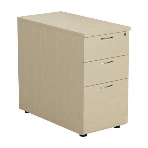 First Desk High 3 Drawer Pedestal 800mm Deep White TESDHP3/800WH