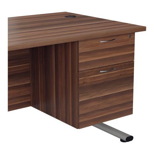 655 Fixed Pedestal 2 Drawers Dark Walnut