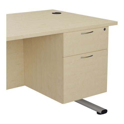 655 Fixed Pedestal 2 Drawers Maple
