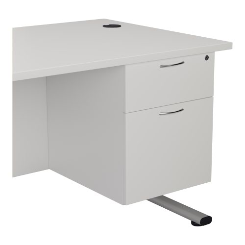 655 Fixed Pedestal 2 Drawers White