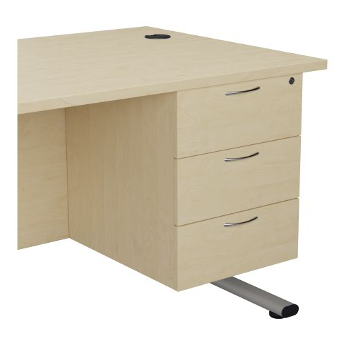 Jemini Maple 3 Drawer Fixed Pedestal TESHP3MA