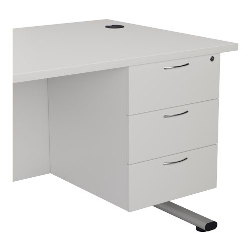 Jemini White 3 Drawer Fixed Pedestal KF79871