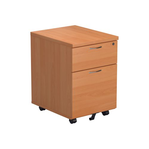Jemini Beech 2 Drawer Mobile Pedestal Version 2 KF74483