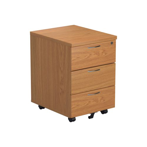 First 3 Drawer Mobile Pedestal Nova Oak TESMP3NO