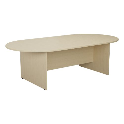 1800mm D-End Meeting Table - Maple