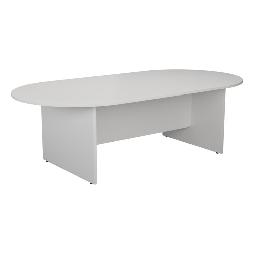 1800mm D-End Meeting Table - White