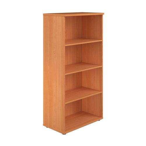 1600 Wooden Bookcase (450mm Deep) Beech