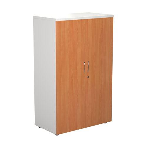 1600 Wooden Cupboard (450mm Deep) White Carcass Beech Doors