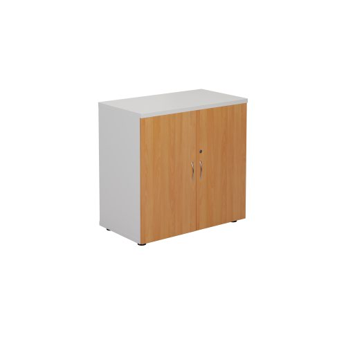 800 Wooden Cupboard (450mm Deep) White Carcass Beech Doors