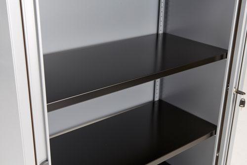 Bisley Essentials Basic Shelf With Under Shelf A4 Filing - Black
