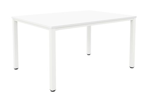 Fraction Infinity 140 X 80 Meeting Table - White With White Legs