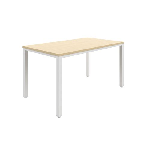 Fraction Infinity 140 X 80 Meeting Table - Maple With White Legs