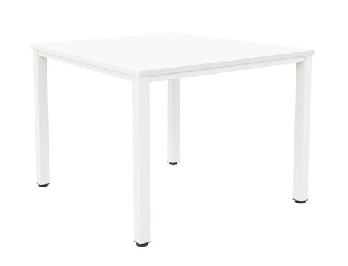 Fraction Infinity 160 X 160 Meeting Table - White With White Legs