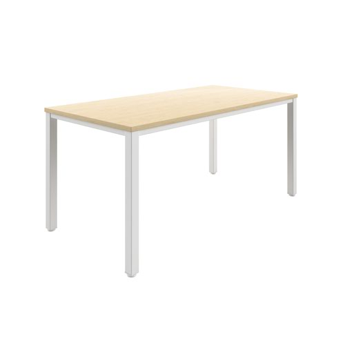 Fraction Infinity 160 X 80 Meeting Table - Maple With White Legs