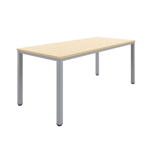 Fraction Infinity 180 X 80 Meeting Table - Maple With Silver Legs