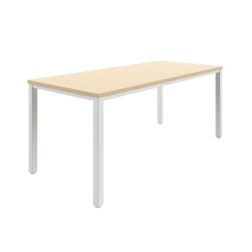 Fraction Infinity 180 X 80 Meeting Table - Maple With White Legs