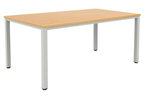 Fraction Infinity 200 X 100 Meeting Table - Beech With Silver Legs