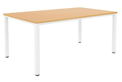 Fraction Infinity 240 x 120 Meeting Table - Beech With White Legs