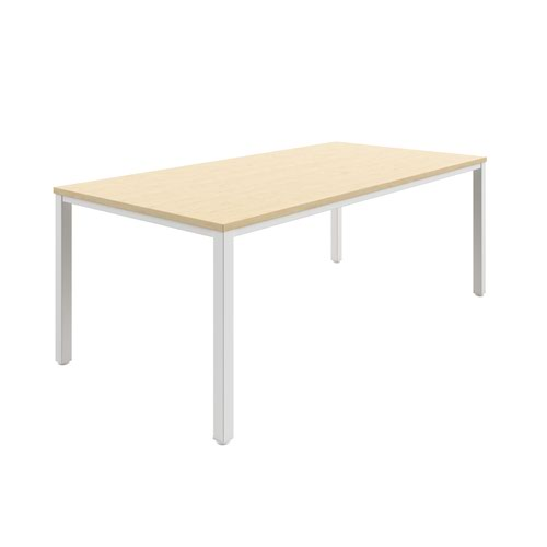 Fraction Infinity 240 x 120 Meeting Table - Maple With White Legs