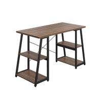 SOHO Home Working Desk with A-Frame Shelves - Dark Walnut / Black