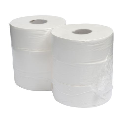Tecman Jumbo Recycled Toilet Roll 90mm X 300M 76mm Core 855 Sheets Case 6