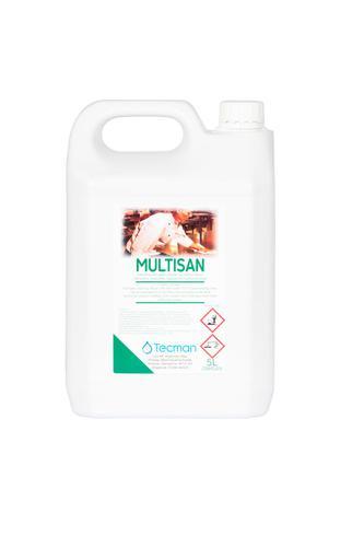 Tecman Multisan Kitchen Clnr Sanitiser 5Ltr Concentrate Case 2 3P