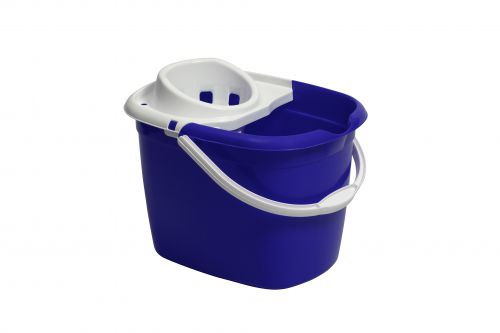 Plastic Mop Bucket With Wringer Blue Single Bucket