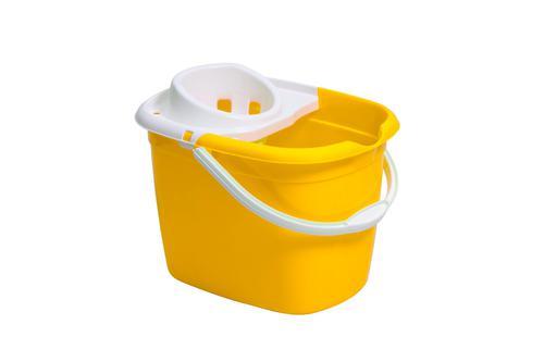 Plastic Mop Bucket With Wringer Yellow Single Bucket 3P