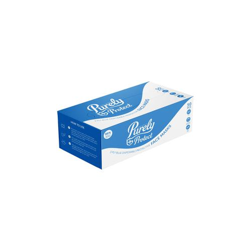 Tecman 3ply Blue Disposable Surgical Masks BX50